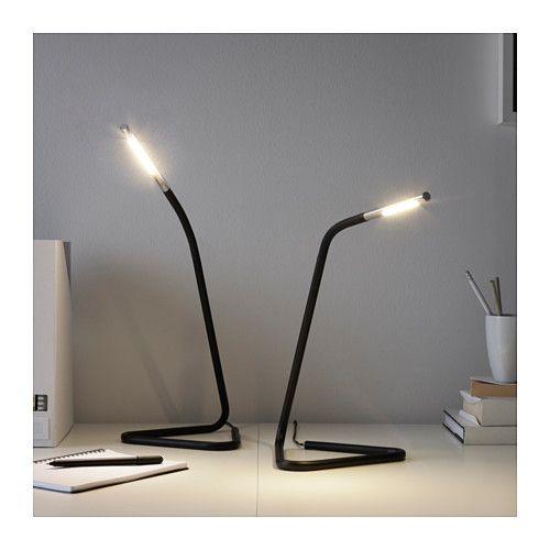 HÅRTE LEDワークランプ - ブラック/シルバーカラー - IKEA