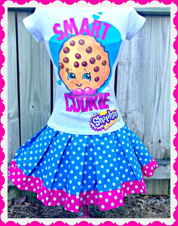 Hey, I found this really awesome Etsy listing at https://www.etsy.com/listing/252312424/girls-shopkins-dress-smart-cookie-dress