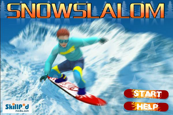 Brave your slalom skills and zigzag your way through the poles to the finish line!