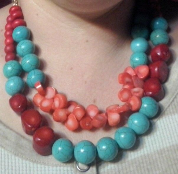 Turquoise & Coral