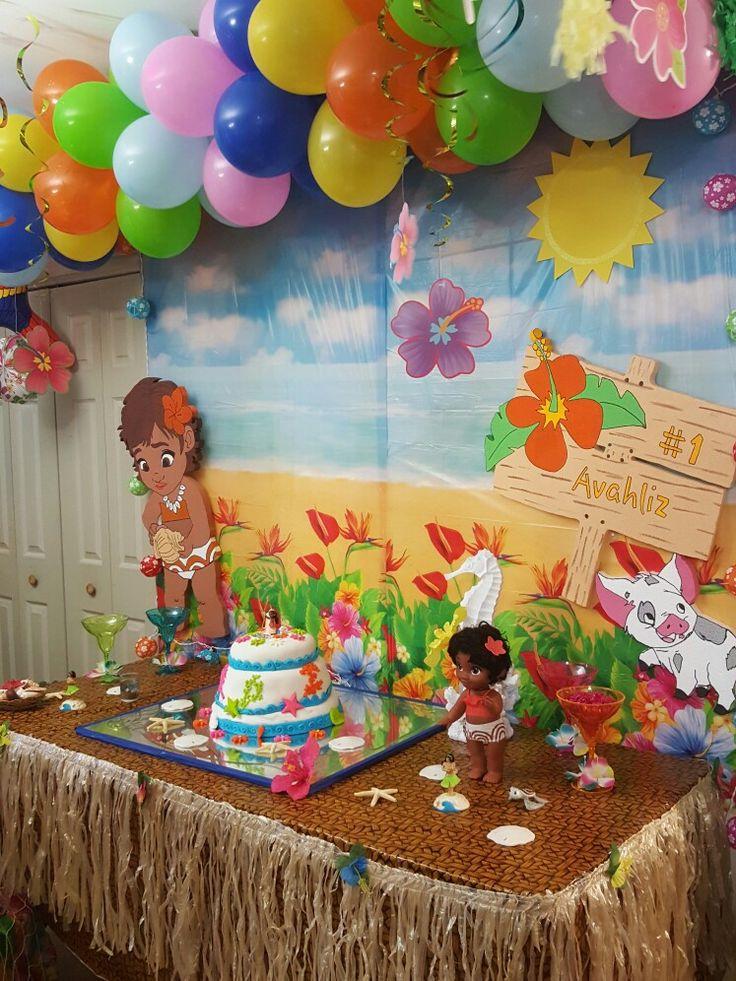 Moana Birthday Party Decoration Baby