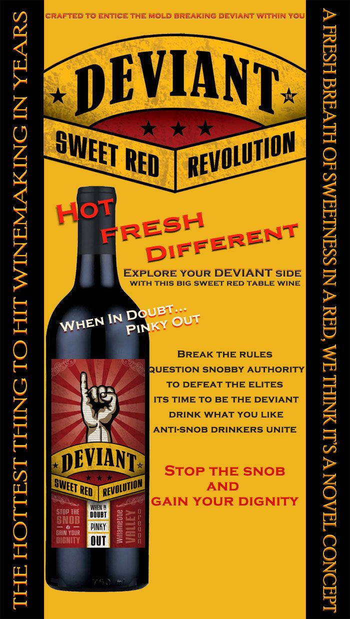 Deviant - Williamette Valley Red Table Wine