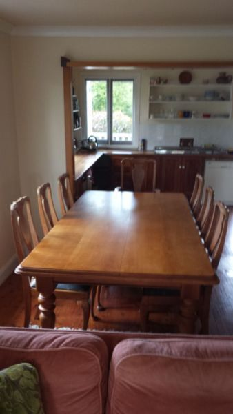 Dining Table 8 Chairs Circa 1920
