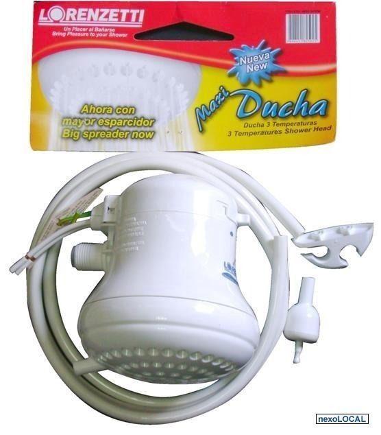 ELECTRIC SHOWER HEAD INSTANT HOT WATER HEATER (LORENZETTI 3-T.+HOSE) 110/127V.! | Home & Garden, Home Improvement, Plumbing & Fixtures | eBay!