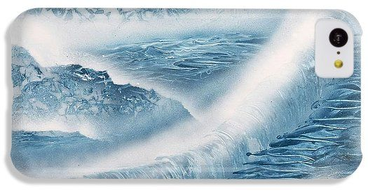 Waterfall From Heaven IPhone 5c Case Printed with Fine Art spray painting image Waterfall From Heaven by Nandor Molnar (When you visit the Shop, change the orientation, background color and image size as you wish)