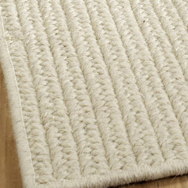 Eco-Friendly Solid Braided Wool Rugs:3 Colors