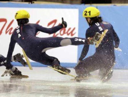 #fail #speedskate #ice #crash #competition #race