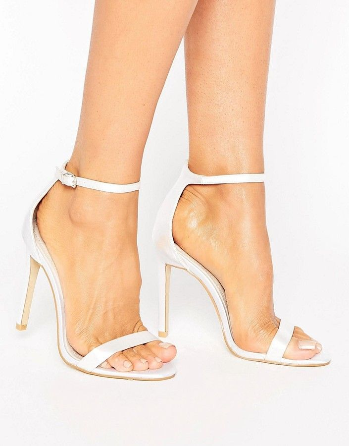aec7eccbb0 Love these beautiful Bridal Barely There Heeled Sandal shoes & heels.  Embellished Heeled Sandals for the bride. Classy and beautiful with sparkle  detail.