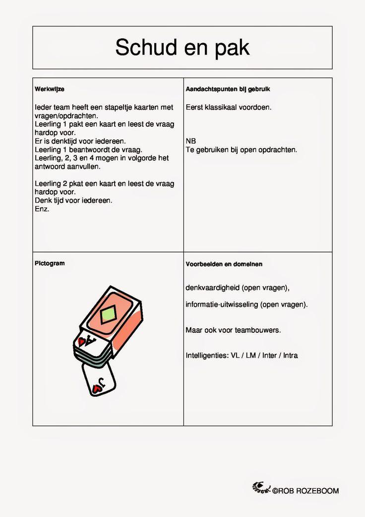 6 Kaarten met coöperatieve werkvormen om meteen in de klas te gebruiken.