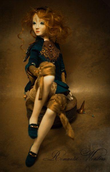 Künstlerpuppen - ''Alkioni''. Handmade Art Doll. One of a kind. - ein Designerstück von romantic-wonders bei DaWanda