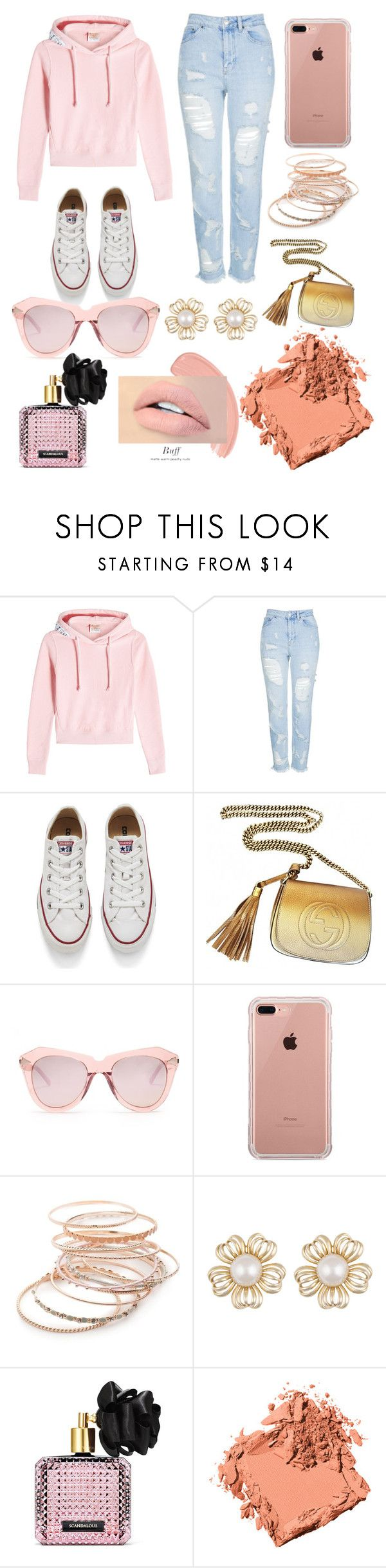 """""""Chill Trend!!!"""" by alexisbella ❤ liked on Polyvore featuring Vetements, Topshop, Converse, Gucci, Karen Walker, Belkin, Red Camel, Victoria's Secret and Bobbi Brown Cosmetics"""