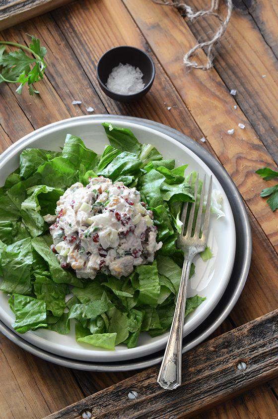 Creamy Cranberry-Walnut Chicken Salad #recipe