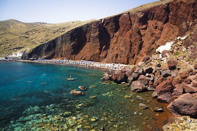 Colorful #beaches in whole island! #RedBeach #Santorini