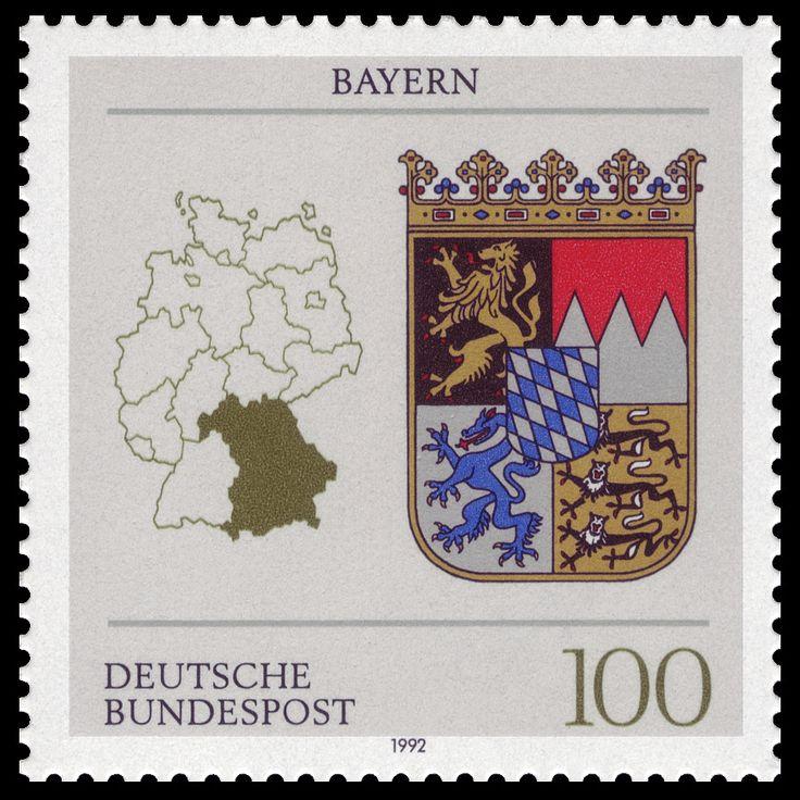 Deutschland 1992 - Bayern (Wappen der deutschen ...