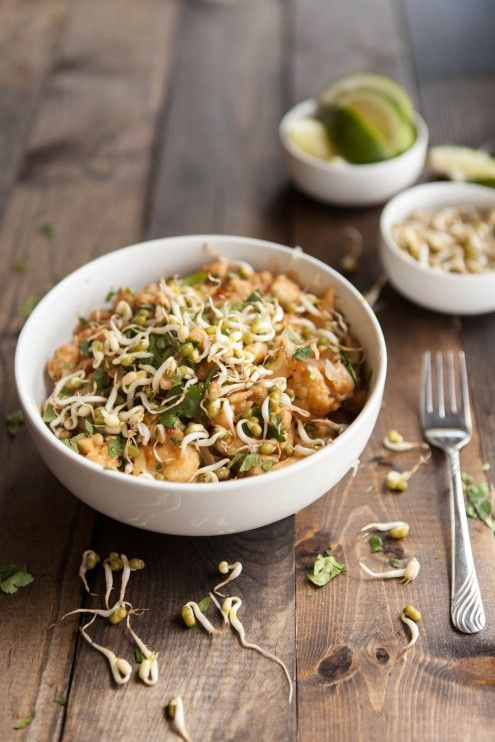 Spicy Peanut Sauce Brown Rice Noodle Bowl