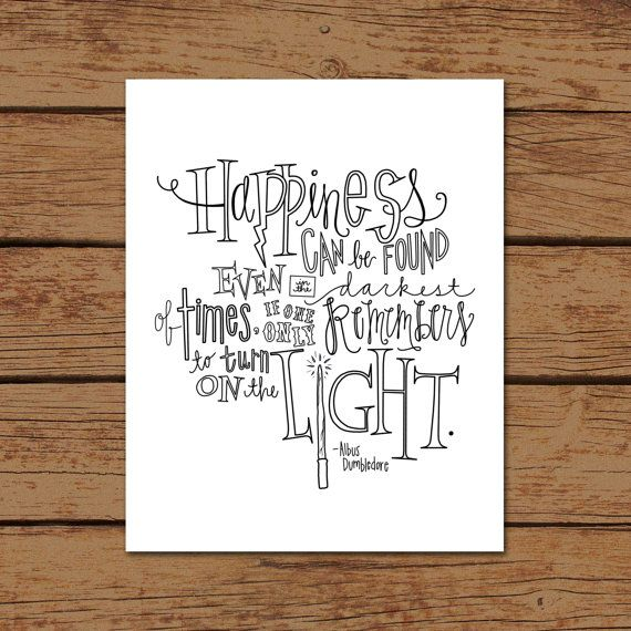 Harry Potter Albus Dumbledore cite Print par sincerelyterilea