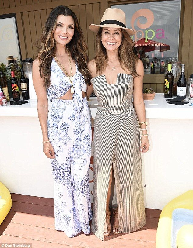 Mingling mothers: The Hartford native (right) posed with actress and model Ali Landry (lef...