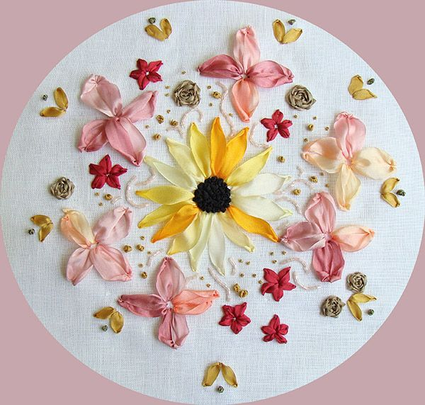 184 Best Embroidery Ribbon Images On Pinterest Embroidery