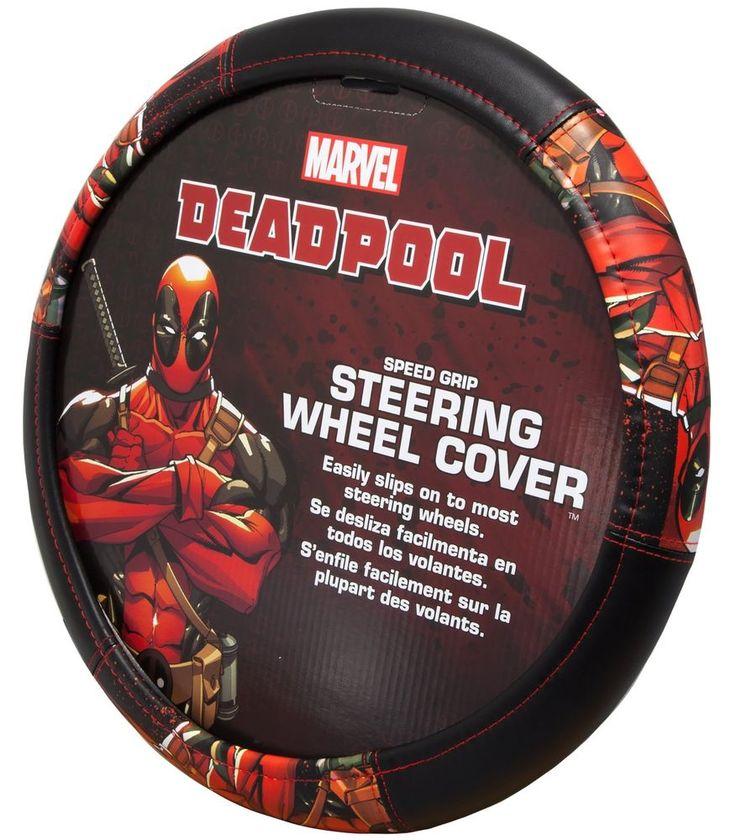 #Plasticolor #Marvel #Deadpool #Car #Steering #Wheel #Cover #Grip #Accessories #Fan #Gift  #Plasticolor