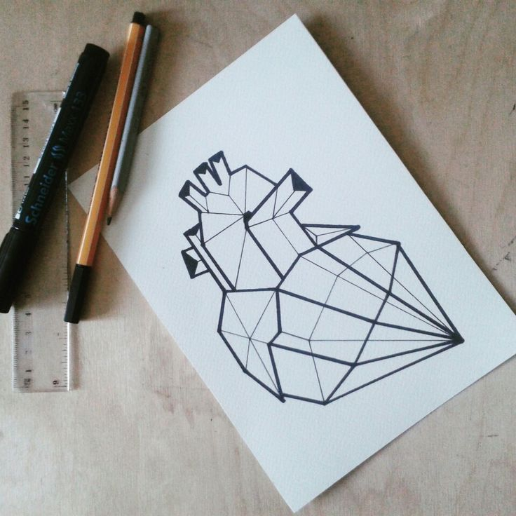 #drawing #geometric #anatomical #heart