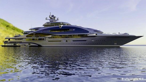 Now that is a yacht! The nine-deck, 163-metre superyacht, Prelude, designed by Laraki Yacht Design.