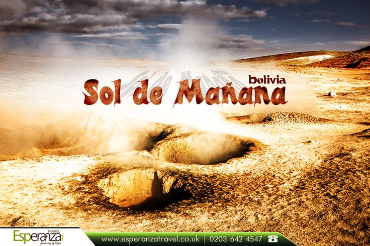 Sol de Mañana, #Bolivia:  Sol de Mañana, meaning #Morning #Sun in #Spanish, is a #geothermal #field in Sur Lípez Province in the Potosi Department of south-western Bolivia. |  Source: https://en.wikipedia.org/wiki/Sol_de_Manana |   #soldemanana #landformsofbolivia #visitorattractions #boliviaattractions #boliviageography #southamerica #travel #esperanzatravel #flightstobolivia |   Book with confidence: http://www.esperanzatravel.co.uk/cheap-flights-to-bolivia.php
