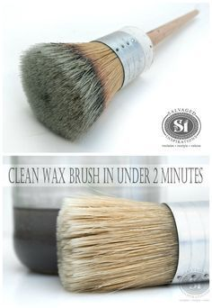 Here's how I clean your dirty wax brushes in under 2 minutes... so easy!