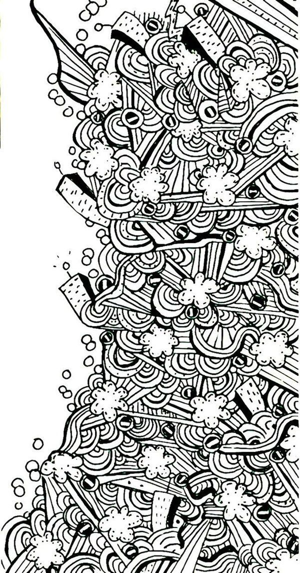 Doodle Abstract Sketch Art