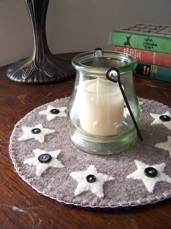 Country Stars Candle Mat by Scissaroo on Etsy, $25.00