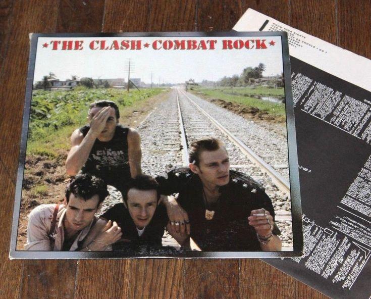 The Clash – Combat Rock LP Vinyl Epic label  Joe Strummer