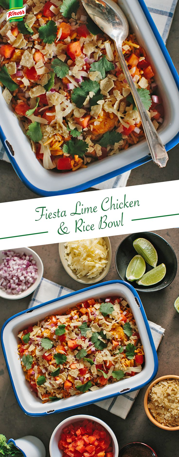 Add A Zing To Your Dinner With Our Delicious Fiesta Lime Chicken And Rice  Bowl!