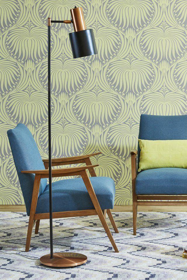 """Un lampadaire esprit rétro """"Fog & Morup"""" en cuivre, Design Market"""