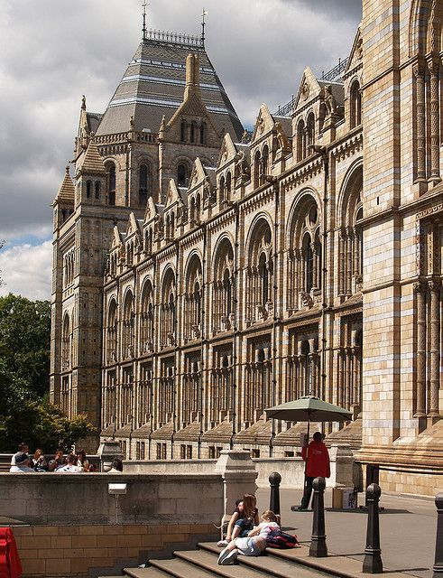 London England..Natural History Museum.architect Alfred Waterhouse.Completed 1881.It really is a Cathedral of Science.