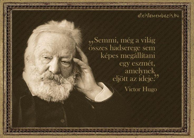 Victor Hugo #idézet | A kép forrása: Magyar Ateista Mémbázis