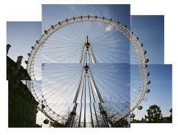 Photomontage of London's London Eye
