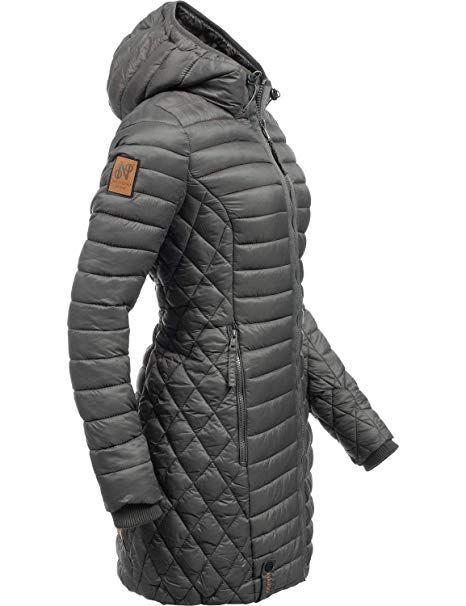 4ca68d32b2402c Navahoo Damen Winterjacke Wintermantel Steppmantel Zea Anthrazit Gr. XS -  Winter Outfits Frauen Schnee Mode