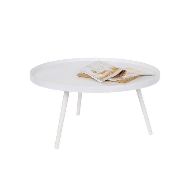 WOOOD Mesa bijzettafel XL hout - Wit