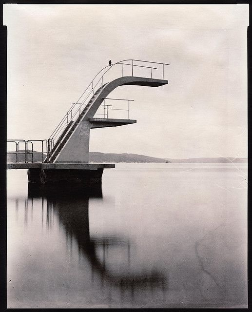 Diving tower on Ulvøya in the Oslo fjord by Claudio Santambrogio