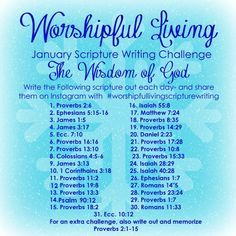 January Scripture Writing Challenge - Worshipful Living