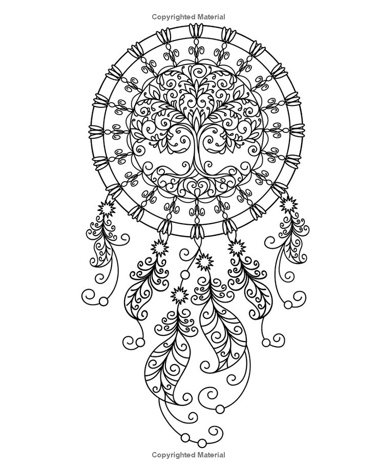 dreamcatcher coloring pages for adults - Dream Catcher Coloring Pages