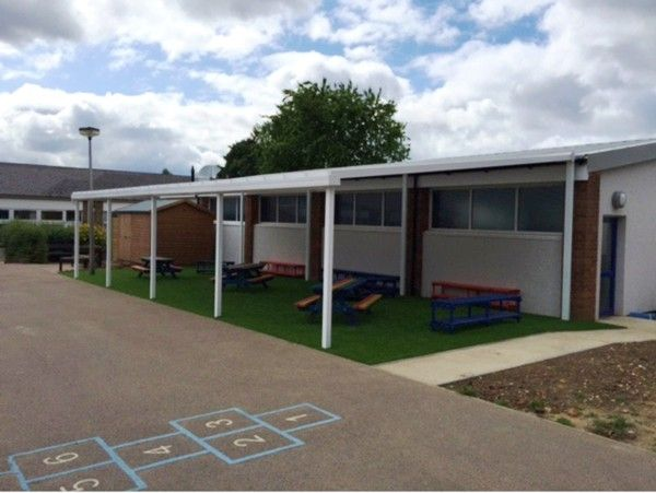 We Installed A 12m X 6m Coniston Wall Mounted Canopy At St Katherines School