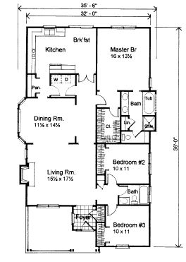 bungalow house plan 72759 - Bungalow Floor Plans