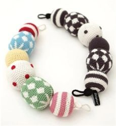 Crochet Pram Necklace- need to get my hands on the black and white one!!!