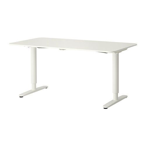 BEKANT Skrivbord sitt/stå IKEA Du varierar höjden på arbetsytan elektriskt från 65-125 cm och får på det sättet en ergonomisk arbetsställning.