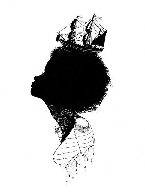 *: Art Inspiration, Silhouette, Tattoo Ideas Inspiration, Illustration, Artsy Fartsy, Charmaine Olivia, Photo, Drawing