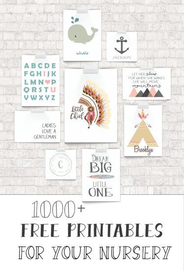 1000 free nursery art printables!!!!! All in one place :) #printables #baby #nursery