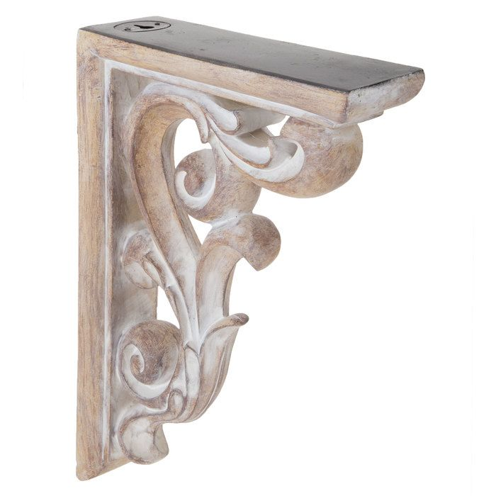Rustic White Flourish Corbel Decor Rustic White Rustic Decor