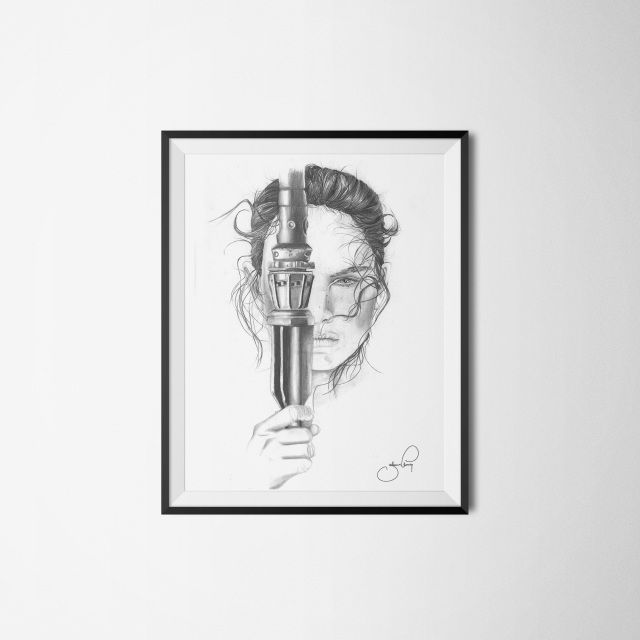 J.ELMING ILLUSTRATIONS aims to make art available for everyone by offering unique and easygoing pieces to reasonable prices  rey starwars drawing
