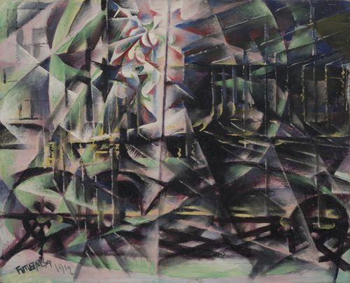 Giacomo Balla / Speeding Automobile / 1912 / oil on wood / MoMa