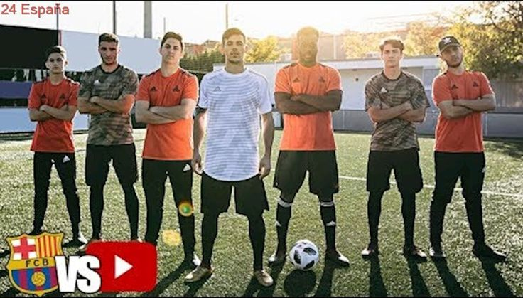 PROMESAS del FC. BARCELONA vs YOUTUBERS - FUTBOL CHALLENGE